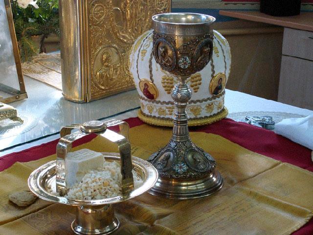 святые дары на престоле