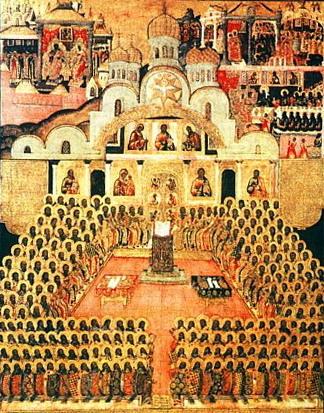 Икона святых отцев I Вселенского собора