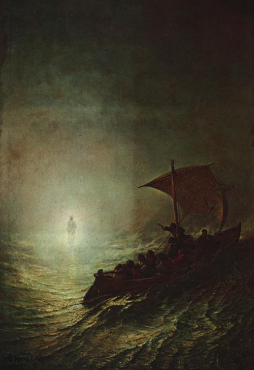 Христос идет к ученикам по водам