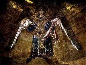 Софийский собор. Купольная мозаика. Архангел
