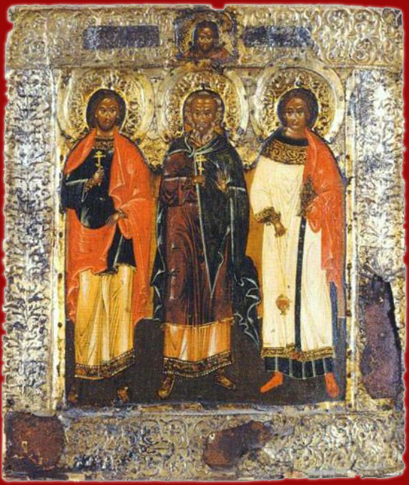 иконы святых мучеников гурия самона и авива: