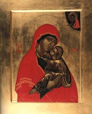 Святая праведная Анна с Девой Марией