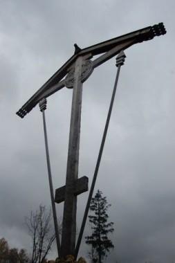 Новый крест на месте убийства Свщмч. Фаддея