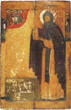 Преподобный Ефрем Сирин, с преподобными Макарием Унженским и Иаковом Железноборовским на полях