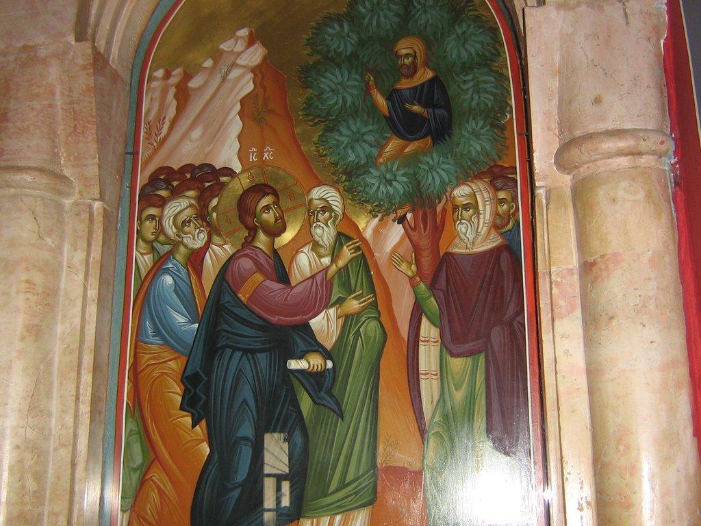 Иерихон. В монастыре на месте где Господь Иисус Христос беседовал с мытарем Закхеем