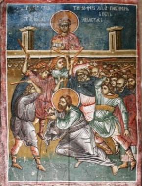 Побиение Св. апостола Тимофея
