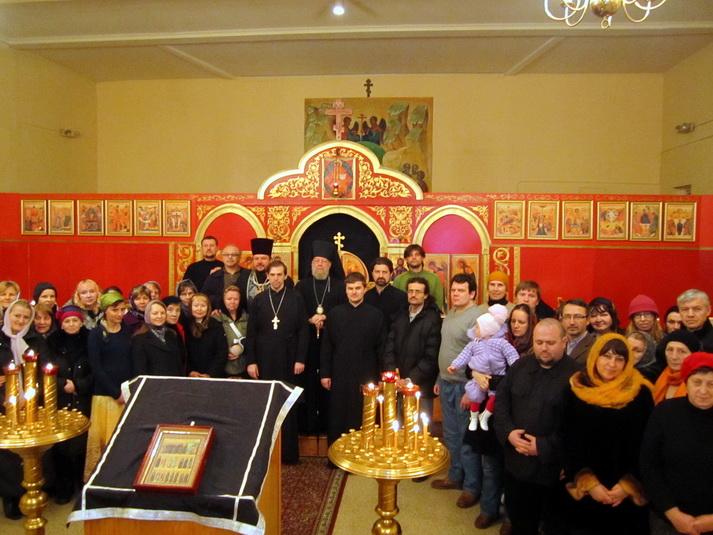 Чтение покаянного канона А.Критского во главе с Преосвященнейшим Иеронимом Епископом Манхеттенским