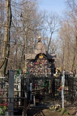 Даниловское кладбище в Москве. Часовенка на месте первоначального погребения св. Матроны Московской