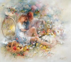 Любовь и нежность. Художник Willem Haenraets
