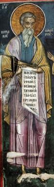 Прп. Кириак. Тзортзи (Зорзис) Фука. Фреска. Афон (Дионисиат). 1547 г.