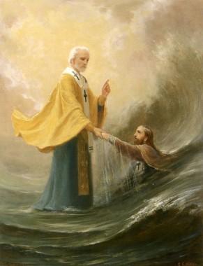 Помощь святителя Николая на море
