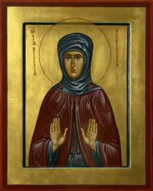 Преподобная Мелания Римляныня