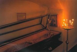 Мощи священномученика Владимира Киевского в Ближних пещерах Свято-Успенской Киево-Печерской Лавры