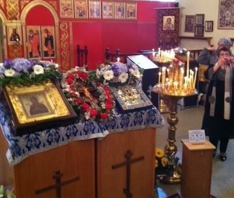 Чудотворные иконы Божией Матери в нашем храме, 18.03.2012