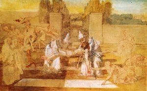 Иосиф Аримафейский и Никодим переносят тело Христа