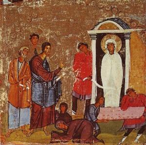 Воскрешение Лазаря. Синай, монастырь св. Екатерины, XII в.