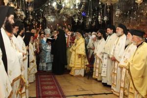 Всенощное бдение с чином погребения Божией Матери в Троицком соборе Русской Духовной Миссии
