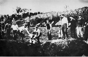 Казнь в лагере Ясеновац