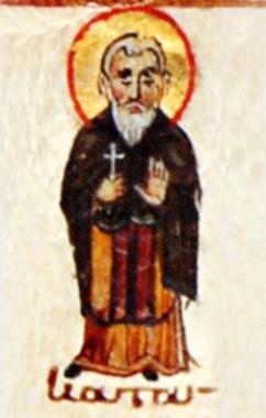 Прмч. Андрей. Миниатюра Минология на Октябрь. Византия. Около середины XI в.