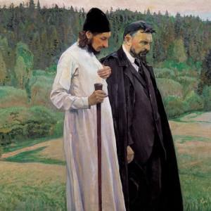 Священник Павел Флоренский и писатель Булгаков