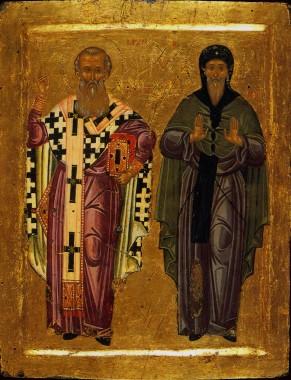 Преподбные Антоний Великий и Афанаский Александрийский