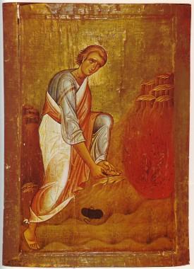 Моисей перед Неопалимой купиной (икона XII века, монастырь Святой Екатерины)