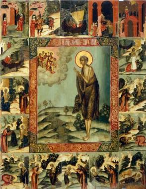 Икона преподобной Марии Египетской с житием