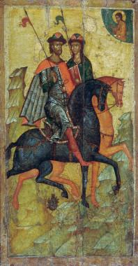 Борис и Глеб на конях. XIV в