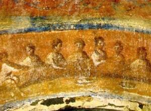 Ага́па, в I-V веках н. э. — вечернее собрание христиан для молитвы и вкушения пищи, соединённое с воспоминаниями об Иисусе Христе