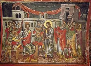 Великая Пятница. Христос перед Пилатом