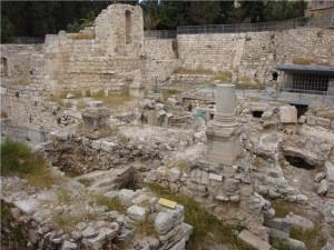 Раскопки на месте купели Вифезда