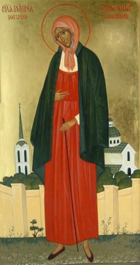 Blessed Xenia, a homeless wanderer of the city of St. Peter