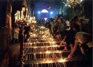 Праздник Успения Пресвятой Богородицы с особой торжественностью совершается в Гефсимании, на месте Ее погребения.
