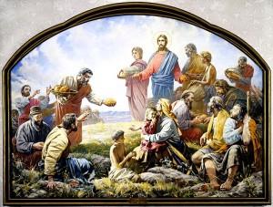 Чудесное умножение хлебов - Патриаршая трапезная Храма Христа Спасителя. Василий Нестеренко