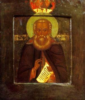Преп.Александр Свирский. Икона середины XVI века