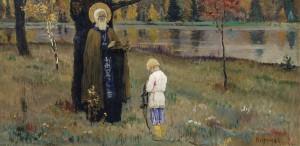Видение отроку Варфоломею. Михаил Нестеров, 1890