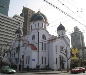 Современный вид на собор иконы Божией Матери «Споручница грешных» в Шанхае