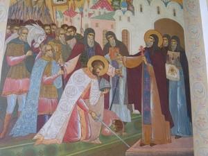 Преподобный Сергий благословляет на битву благоверного князя Дмитрия Донского