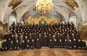 Братия Свято-Успенской Почаевской Лавры