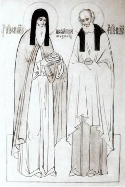 Преподобные Спиридон и Никодим просфорники