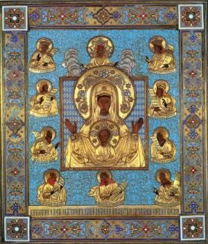 """Курская икона """"Знамение"""" Божьей Матери"""