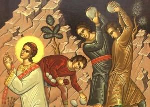 Первомученик и архидиакон Стефан. Избиение камнями