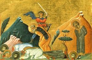 Мученическая кончина святых Кира и Иоанна