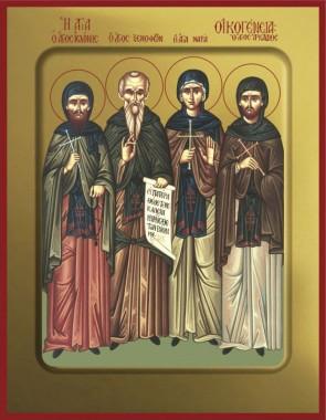 """Преподобные Ксенофонт и Мария и сыновья их Иоанн и Аркадий. Иконная мастерская """"Покров"""""""