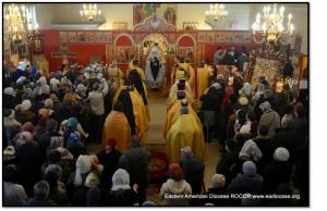 Возглавлял Богослужение Первоиерарх Русской Зарубежной Церкви Митрополит Иларион