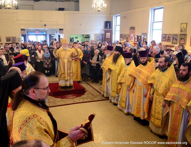 Божественную Литургию возглавил Первоиерарх Русской Зарубежной Церкви, Высокопреосвященнейший митролит Восточно-Американский и Нью-Йоркский Иларион