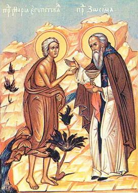Старец Зосима и Мария Египетская