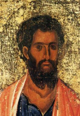 """Ап. Иаков Заведеев (в изданиях иконы ошибочно подписывается """"Иаков брат Божий""""). Византия. XIII в. Монастырь Иоанна Богослова. Патмос."""