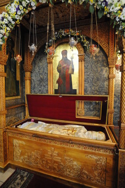 The reliquary of Holy Hieromartyr Hilarion (Troitsky)
