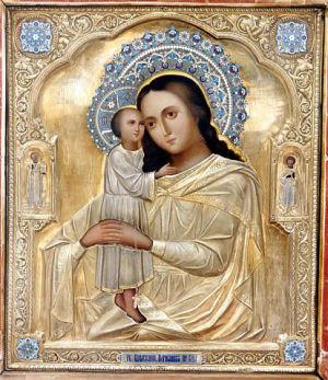 Чудотворный образ Пресвятой Богородицы Взыскание погибших, написанный по просьбе святой блаженной Матроны Московской